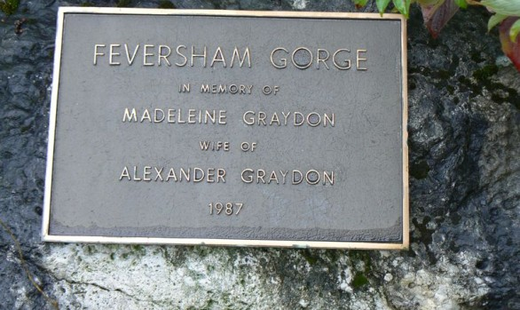 Feversham Gorge Memorial Plaque Madeleine