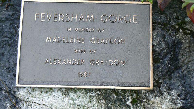 Feversham Gorge Memorial Plaque Madeleine