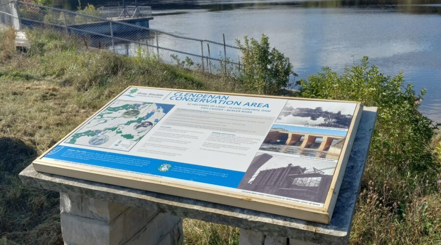 New Sign at Clendenan Conservation Area